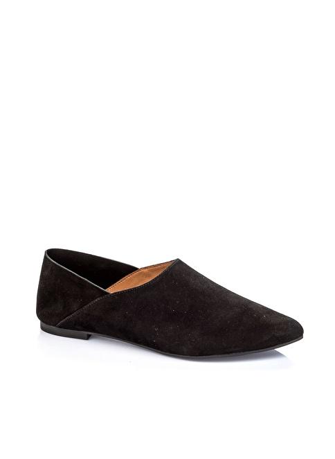 Elle Deri Süet Ayakkabı Siyah